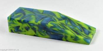 Acrylic Handle Block, Blue & Yellow-Green