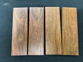 Figured Ironwood Handle Scales x 2