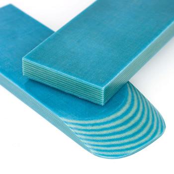 Micarta Handle Scales Caribs Beige-Blue