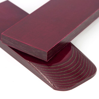Micarta Handle Scales California Burgundy Olive