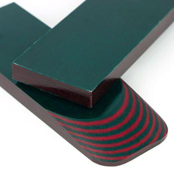 Micarta Handle Scales Gekkon Green-Red