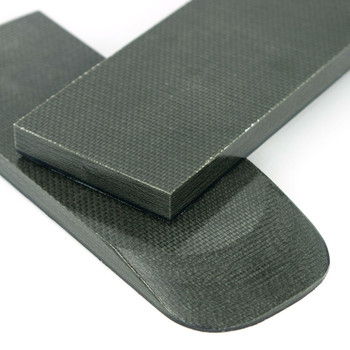 Micarta Handle Scales Grey Canvas