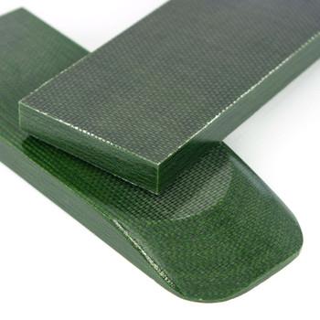 Micarta Handle Scales Shok Canvas Grey Green Canvas