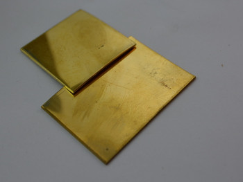 Spacer material, Brass 40 x 40 x 1 mm