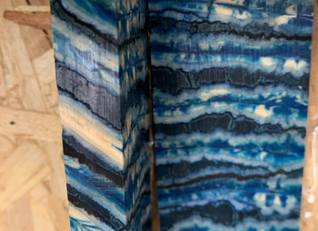 Mammoth Molar Handle Scales, Bright Blue