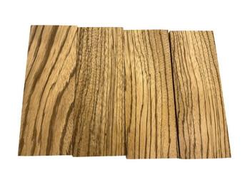 Zebrawood Handle Scales x 2