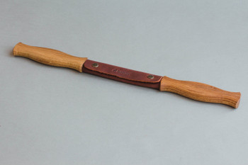 Woodworking Drawknife with Leather Sheath, Oak handles