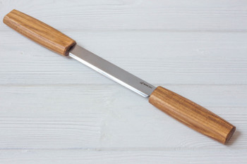 Woodworking Drawknife with Leather Sheath, Ash Handles