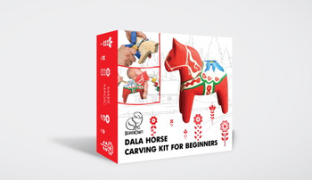 Beginner Woodcarving Kit - Dala Horse