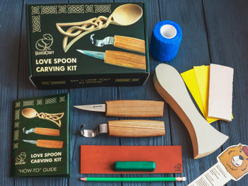 Spoon Carving Gift Box Set - Celtic Love Spoon