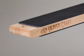 Leather Strop for Knife Sharpening, Dual-sided with Polishing Compound