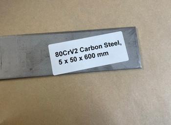 80CrV2 Carbon Steel, 5 x 50 x 600 mm