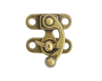 Swing Bag Clasp, Antique Brass Finish, 30 x 35 mm (2-pack)