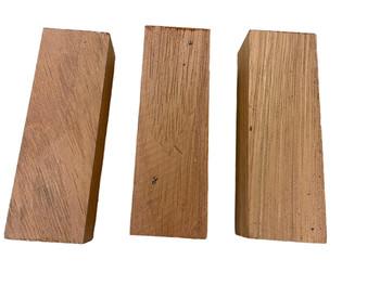 Teak Wood Handle Scales x 2