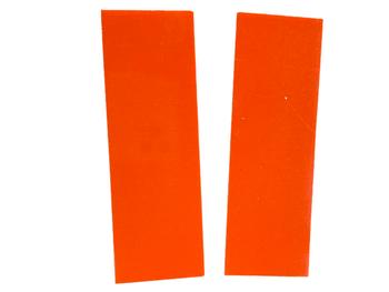 G10 Orange Spacers 1 x 40 x 120 mm, set of 2