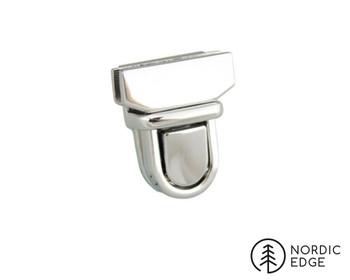 Tuck Lock Clasp, 20 mm, Nickel Free plating