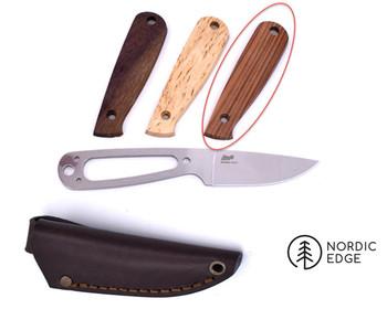 Brisa Necker Knife Kit, Flat Grind, Santos Rosewood Scales