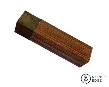 Pre-milled Rosewood and Macassar Ebony Block