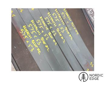 San Mai Billets: Hitatchi Blue Paper #2, Nickel, Carbon 1020