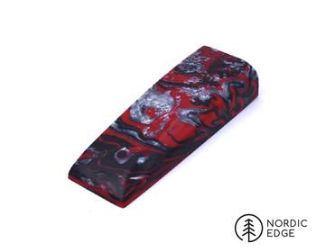 Inlace Acrylester Handle Block, Red Damascus