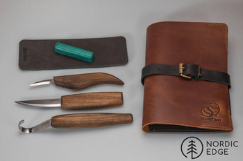 Spoon Carving Set in Leather Folder, Limited Edition S13X