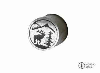 Mosaic Pin, 8 mm, MOUNTAIN TOP