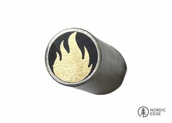 Mosaic Pin, 8 mm, GOLDEN FLAME