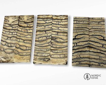 Mammoth Molar Handle Scales, Natural
