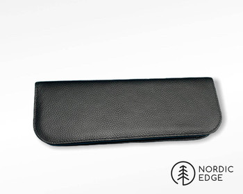 Padded Case for Knives, Deluxe Leather Model, 30 cm