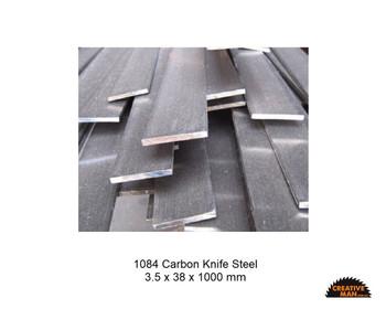 Carbon Knife Steel 1084, 2 x 38 x 330 mm