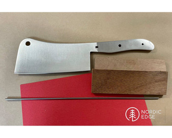 Kitchen Cleaver Knife Making Kit with Handle Materials