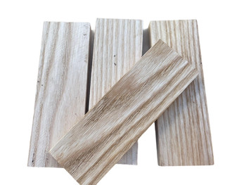 White Ash Handle Scales x 2