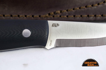 EnZo Elver Knife, Scandi Grind, Black G10 Scales