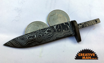 Damascus Fire Ant Blade, Carbon Steels