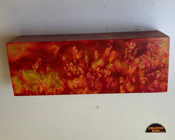 FIRESTORM, Dyed and Stabilised Maple Burl