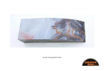 Acrylic Handle Block, Orange and Black