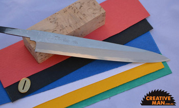 Yanagiba Damascus Knife Making Kit, Japanese Single-bevel blade
