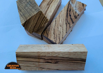 Zebrano Wood Handle Block