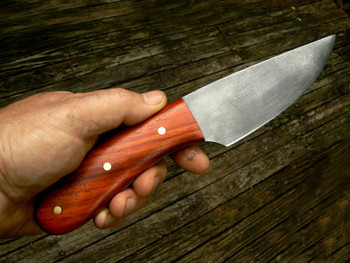 Example of a knife made with Padouk handle, by Frankallen on Knifenetwork.com