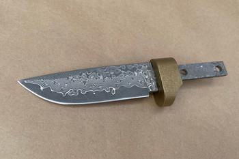 Damascus Drop Point Blade 95 mm w/bolster