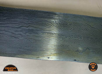 "Damascus ""RANDOM Pattern"" billet, High-Layer, Large"