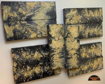 Stabilized Maple Burl Scales, BLACK
