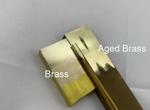 Aged Brass Guard Block , 200 mm (25 x 9.5 mm)