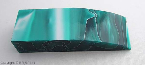 Acrylic Handle Block, Turquoise & Black