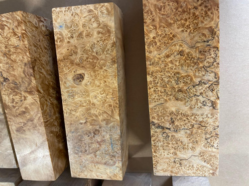 Stabilised Maple Burl Block, NATURAL CROSS
