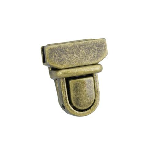 Tuck Lock Clasp, 20 mm, Antique finish