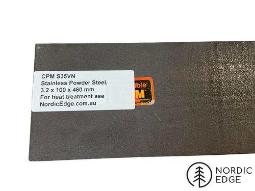 CPM  S35VN Stainless Powder Steel 3.2 x100 x 460 mm