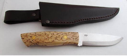 "note this is not the right sheath. The knife comes with the ""bushcraft"" sheath, which is rectangular, not thinning towards the tip"