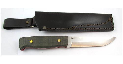 EnZo Camper Knife Kit, Black Canvas Micarta