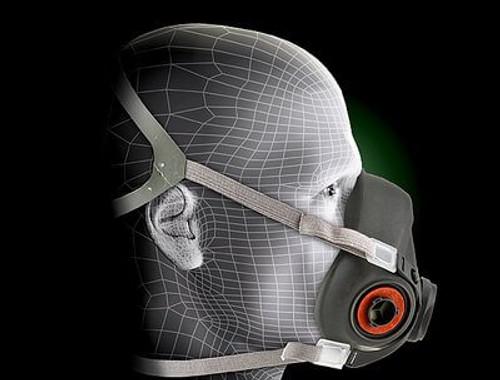 Respirator, 3M Half Face Model 6300 (Size Large)